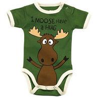 Lazy One Infant Boys' Moose Hug Creeper