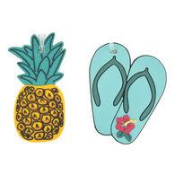 Travelon Pineapple & Flip Flops Luggage Tag - 2 Pk.