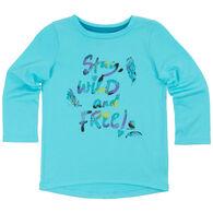 Carhartt Infant/Toddler Girls' Stay Wild & Free Short-Sleeve T-Shirt