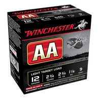 """Winchester AA Target 12 GA 2-3/4"""" 1-1/8 oz. #9 Shotshell Ammo (25)"""