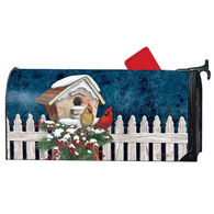 MailWraps Winter Home Cardinals Magnetic Mailbox Cover
