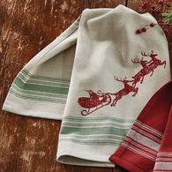 Park Designs Here Comes Santa Printed Dish Towel