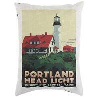 Maine Balsam Fir Portland Head Light Pillow