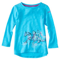 Carhartt Infant/Toddler Girls' Wrap Horse Long-Sleeve T-Shirt