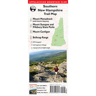 Southern New Hampshire Trail Map by Appalachian Mountain Club