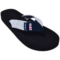 Tidewater Sandals Women's Lighthouse Stripes Flip Flop Sandal