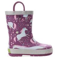 Western Chief Girls' Fancy Horse Rain Boot