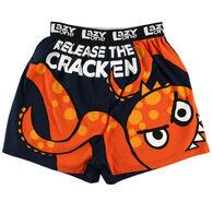 Lazy One Men's Release the Cracken Comical Boxer Short