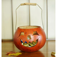 Meadowbrooke Gourds Rusty Pumpkin Basket Candy Dish Gourd