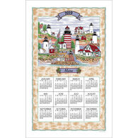 Kay Dee Designs 2019 Maine Lighthouse Collage Calendar Towel