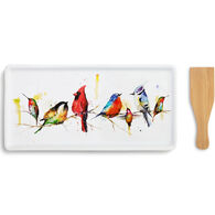 Big Sky Carvers Little Birds Appetizer Tray with Spatula Set