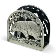 Big Sky Carvers Black Bear Metal Napkin Holder