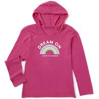 Life is Good Girl's Dream On Rainbow Hooded Smooth Long-Sleeve Shirt