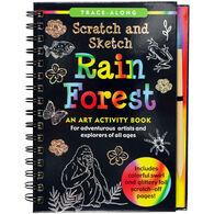 Rain Forest Scratch & Sketch Trace-Along Art Activity Book
