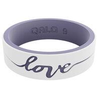 Qalo Women's Strata Love Silicone Ring