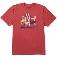 Life is Good Men's American Adirondack Beer Crusher Short-Sleeve T-Shirt