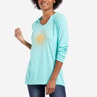 Life is Good Women's Sun Love Hooded Smooth Long-Sleeve T-Shirt