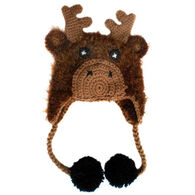 Huggalugs Infant/Toddler Moose Earflap Beanie Hat