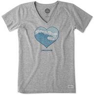 Life is Good Women's Engraved Free Spirit Crusher Vee Short-Sleeve T-Shirt