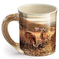 Wild Wings Sharing The Bounty - Whitetail Deer Sculpted Mug