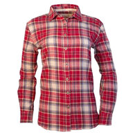 Purnell Women's Plaid Flannel Button-Up Long-Sleeve Shirt