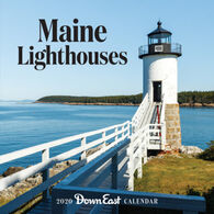 Maine Lighthouses: 2020 Down East Wall Calendar by Editors of Down East