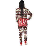 Lazy One Women's Bear Essentials Onesie Flap Jack