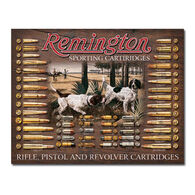 Desperate Enterprises Remington Bullet Board Tin Sign