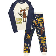 Lazy One Toddler S'more Sleep Please PJ Set