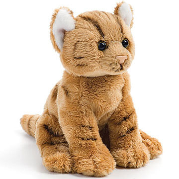 Nat Jules Orange Tabby Cat Beanbag Stuffed Animal Kittery