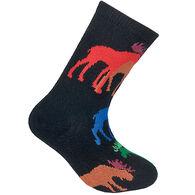 Wheel House Designs Kid's Colorful Moose Sock
