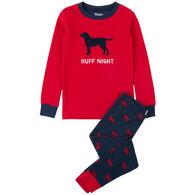 Hatley Boys' Ruff Night Organic Cotton Applique Pajama Set