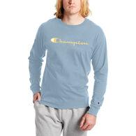 Champion Men's Classic Graphic Script Logo Long-Sleeve T-Shirt