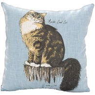 "Maine Balsam Fir 7"" x 7"" Maine Coon Cat Balsam Pillow"