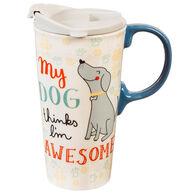 Evergreen My Dog Ceramic Travel Cup w/ Lid