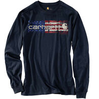 Carhartt Men's Lubbock Graphic Distressed Flag Long-Sleeve T-Shirt