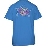 Salt Life Women's Turtle Bloom Crew-Neck Short-Sleeve T-Shirt