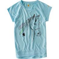 Carhartt Girls' Feathered Horse Force Short-Sleeve T-Shirt
