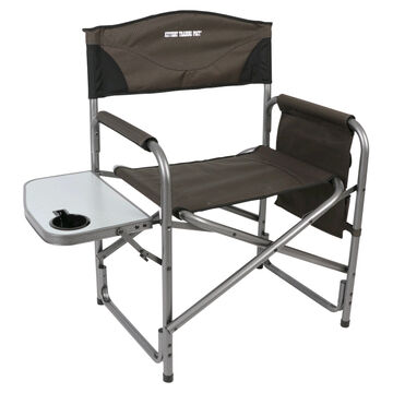 Portal Aluminum Directors Chair w/ Side Table & Kittery Trading Post Logo