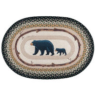 Capitol Earth Mama and Baby Bear Oval Patch Rug