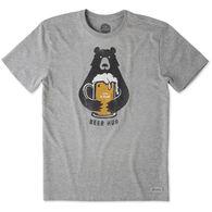 Life is Good Men's Beer Hug Crusher Short-Sleeve T-Shirt