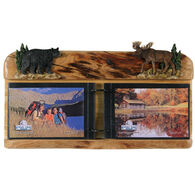 Rivers Edge Moose and Bear Firwood Photo Display
