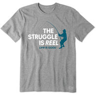 Life is Good Men's The Struggle is Reel Crusher Short-Sleeve T-Shirt