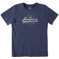 Life is Good Boy's Land Of The Free Crusher Short-Sleeve T-Shirt