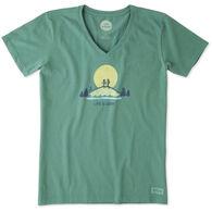 Life is Good Women's Vista Hike Crusher Vee Short-Sleeve T-Shirt