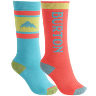 Burton Youth Weekend Midweight Sock, 2-Pack