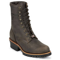 "Chippewa Men's 8"" Unlined Steel Toe Logger Sole Work Boot"