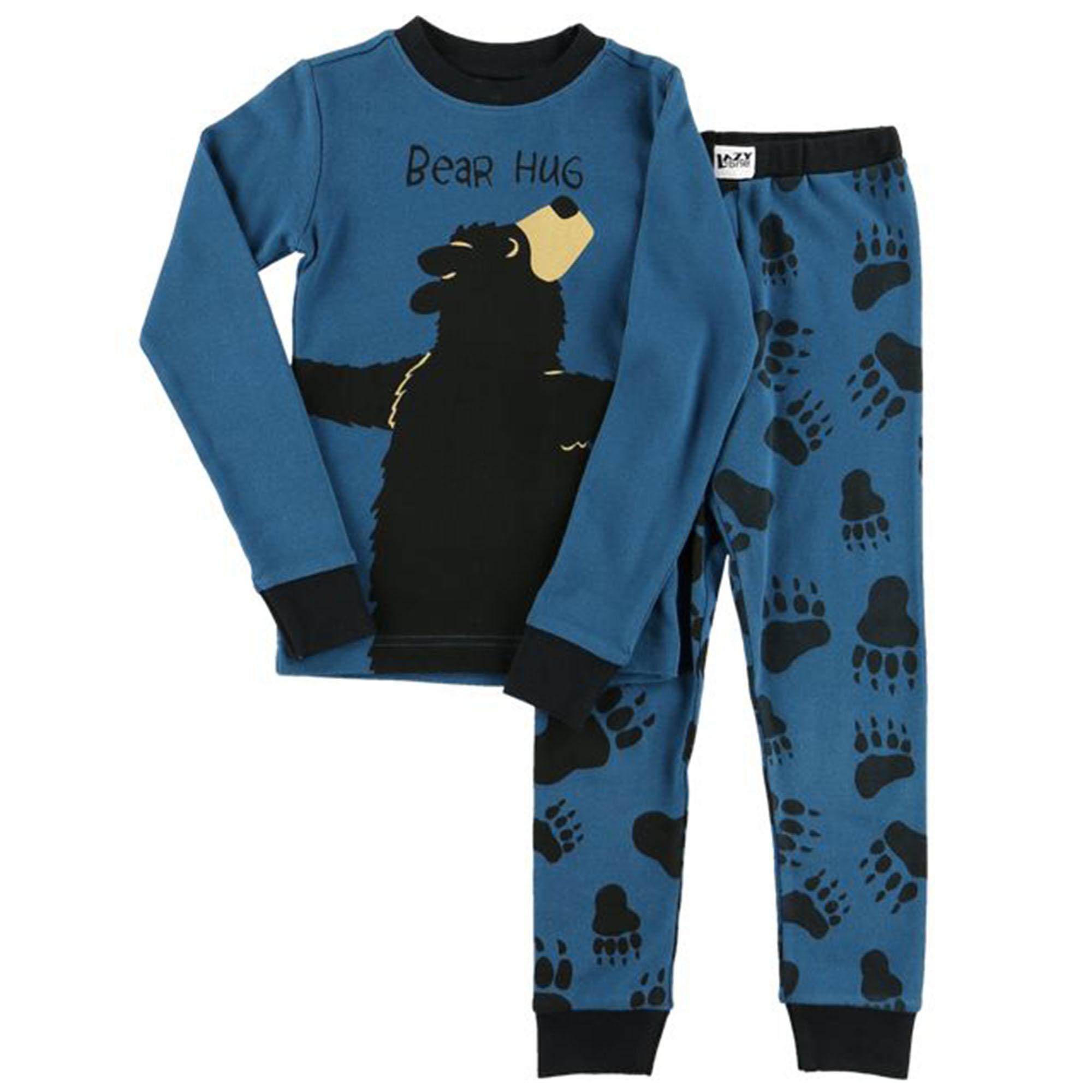 Lazy One Kids Children PJ Pajamas Sleepwear Toddler Blue Brown Black Duck Moose