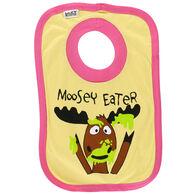 Lazy One Infant Girl's Moosey Eater Bib