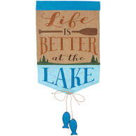 Carson Home Accents Flagtrends Lake Life Double Applique Garden Flag